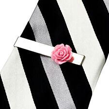 Mauve Rose Tie Clip