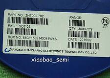 3000pcs/reel New 2N7002 SOT-23 N-Channel MosFET