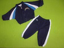 NFL Los Angeles Chargers Track Sweat Suit Jacket Pants Baby Infants 12 Months