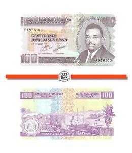 Burundi 100 Francs 2011 Unc Pn 44b