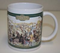 Vintage Holiday Christmas Central Park NY Currier & Ives Ceramic Coffee Mug