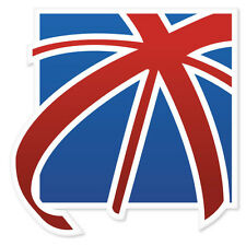"Britain Flag United Kingdom car bumper sticker 4"" x 4"""