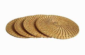 Handmade Cane Table Mat 4 pcs set - 100% Export quality in Sri Lanka