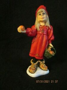 """Candy Design Norway Girl w/Basket of Apples Carl Larsson 5"""" Tall"""