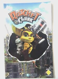 58025 Instruction Booklet - Ratchet & Clank - Sony PS2 Playstation 2 (2002)