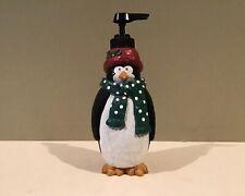 Resin Christmas Penguin Pump Soap Dispenser