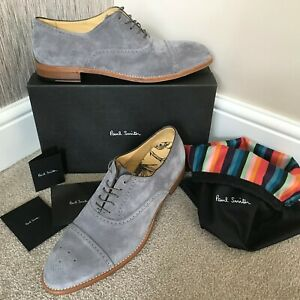 PAUL SMITH GREY SUEDE SONNET BROGUE SHOES MADE IN ITALY SIZE 11 RETAIL