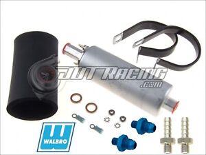 GENUINE WALBRO/TI GSL392 255LPH External Inline Fuel Pump +6AN/8AN Fitting