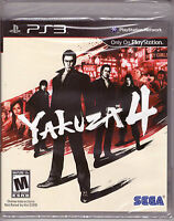 Yakuza 4 [PlayStation 3 PS3 2011 RE-PRINT Japan Crime Syndicate Action] NEW