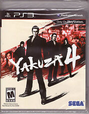 Yakuza 4 [PlayStation 3 PS3, Sony Exclusive, Japan Crime Syndicate Action] NEW