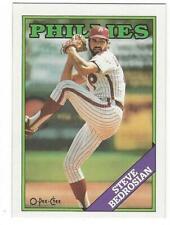 STEVE BEDROSIAN 1988 O-PEE-CHEE #344 ERROR BLANK BACK NMMT Philadelphia Phillies