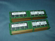 Pair of Crucial PC-2700 2x 1GB DIMM 333 MHz DDR SDRAM Memory (CT12864Z335)
