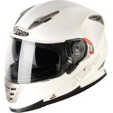 NEW NITRO NRS-01 UNO DVS HELMET WITH SUN VISOR, MATT WHITE, SIZE MEDIUM RRP £149