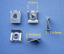 (2347) 5x Befestigungsklammer Blechmutter Klammer M5 16x20 H6 silber Universal