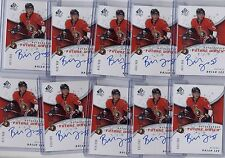(10) BRIAN LEE 2008-09 SP AUTHENTIC FUTURE WATCH ROOKIE RC AUTO #/999 LOT