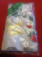 """Vintage PIK-NIK-KING table cloth 40""""x78"""" Fruit Theme Picnic Time"""