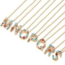 Letter Alphabet Party Gift Hot Sale Girl Good Material 1PC Diamond Necklace O3