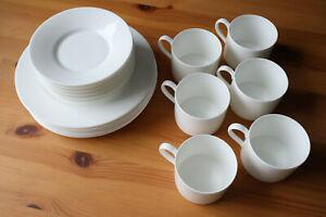 Dibbern Fine Bone China Porzellan - Kaffee-Service Geschirr Set - Teller & Tasse