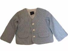 GREAT GUY  Boys 24 Months Blue Striped Seersucker Blazer Suit Coat NWOT
