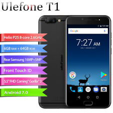 "5.5""Ulefone T1 6G+64GB 16.0MP Helio P25 Fingerprint Smartphone Móvil 2SIM GPS ES"