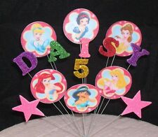Disney Princess Birthday Cake Topper Decoration 3rd 4th 5th 6th 7th Any Name+Age