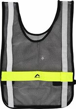 More Mile High Visibility Safety Vest Twin Mode LED Light Reflective Running Bib