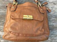 COACH E1182-18298 Kristin Light Brown Tote / Shoulder Bag