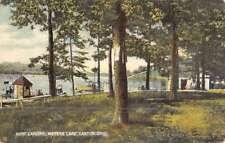 Canton Ohio Meyers Lake Boat Landing Antique Postcard K89440