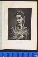 Queen Charlotte of Great Britain after Drawing by Thomas Frye -Photogravure 1904