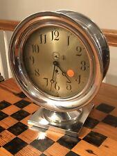 American Steam Gauge & Valve Co Shelf Clock 8 1/2� Dial Chelsea Marine Movement