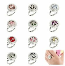 New arrive Aromatherapy Perfume Ring Diffuser Locket Finger Ring Stainless Steel