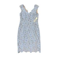 Eliza J Baby Blue Floral Sleeveless Lace Dress - Women's SZ Petite 10P - NEW