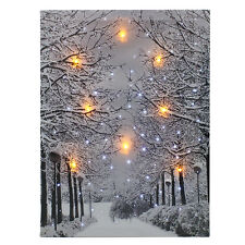 Luminous LED Snow Tree Lighted Canvas Print Art Painting Wall Picture Home Decor