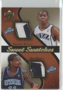 2007-08 Sweet Shot Swatches Memorabilia /25 Ronnie Brewer Dee Brown #SW-RD Patch