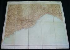 MILITARY GEOGRAPHY INSTITUTE OF ITALY TOPOGRAPHIC MAP GENOVA GENOA QUADRANT 1924