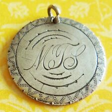 Victorian MTS w/ BORDER LOVE TOKEN Hand-Engraved Seated Liberty Dime Charm