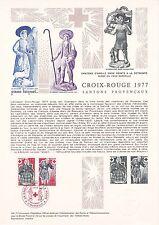 Document Philatélique Timbre  1er Jour : 26/11/ 1977 - Croix Rouge Santons Prov