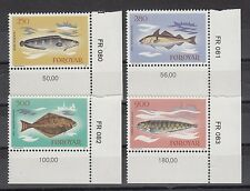 TIMBRE STAMP 4 ILES FEROES Y&T#80-83 POISSON FISH  NEUF**/MNH-MINT 1983 ~A46