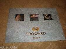 """BROWARD YACHTS 50 YEARS"" MOTOR YACHT MARKETING SALES BROCHURE Lots of PICTURES"