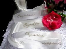 MY ARTS-1.5 Inch Silky Print Ribbon-CONGRATULATIONS ! price for 2 yards