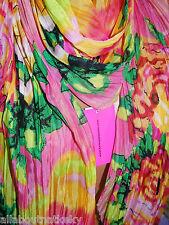 BETSEY JOHNSON * SCARF  ( Sarong / Pareo) - FLORAL PINK  -Beautiful Bright Print