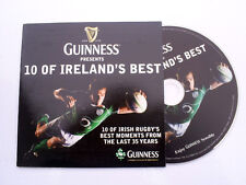 GUINNESS IRISH RUGBY DVD 10 OF IRELAND BEST MOMENTS FROM LAST 35 YEARS NICE GIFT
