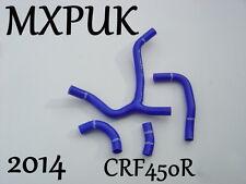 CRF450 2013 2014 BLUE SILICONE HOSE KIT  CRF 450 HONDA HOSES Y KIT CRF450 (426)