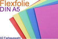 56,83 €/m² A5 Flexfolie Plotterfolie Bastelfolie Textil T-Shirt Druck Bügelfolie