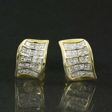 Exklusive Diamant-Carrée Ohrstecker mit ca. 1,20 ct., 750/- GG, TW(G)/VS
