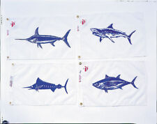 """Annin Fish Flags - 12"""" x 18"""" - $9.95 (Choice of One Fish Flag) Made in Usa"""
