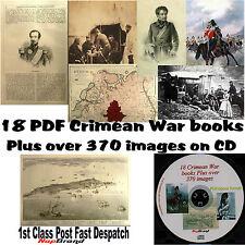 Crimean War CD 18 ebooks / PDF files plus over 370 war images Light Brigade etc
