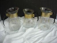 3 MID CENTURY MODERN ATOMIC STARBURST COFFEE PITCHER