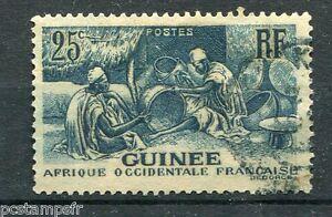 GUINEE - 1938 - timbre 132, LES LAOBIS, ARTISANS du BOIS, oblitéré
