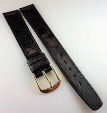 AUTHENTIC OMEGA GENUINE CROCODILE WATCH BAND 16MM BLACK